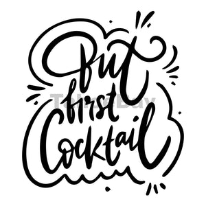 But First Cocktail Can Cooler Graphic Design Files | SVG PNG