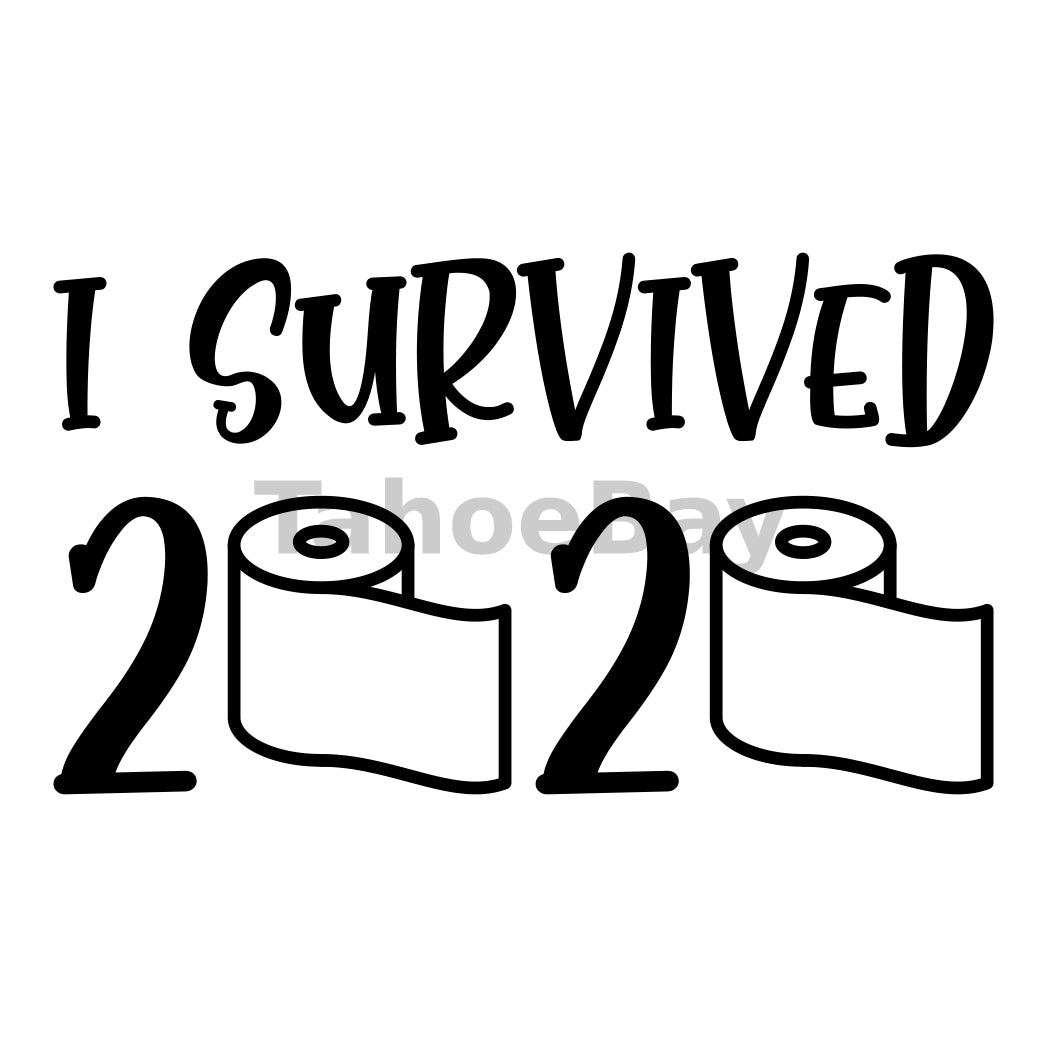 I Survived 2020 Can Cooler Graphic Design Files | SVG PNG