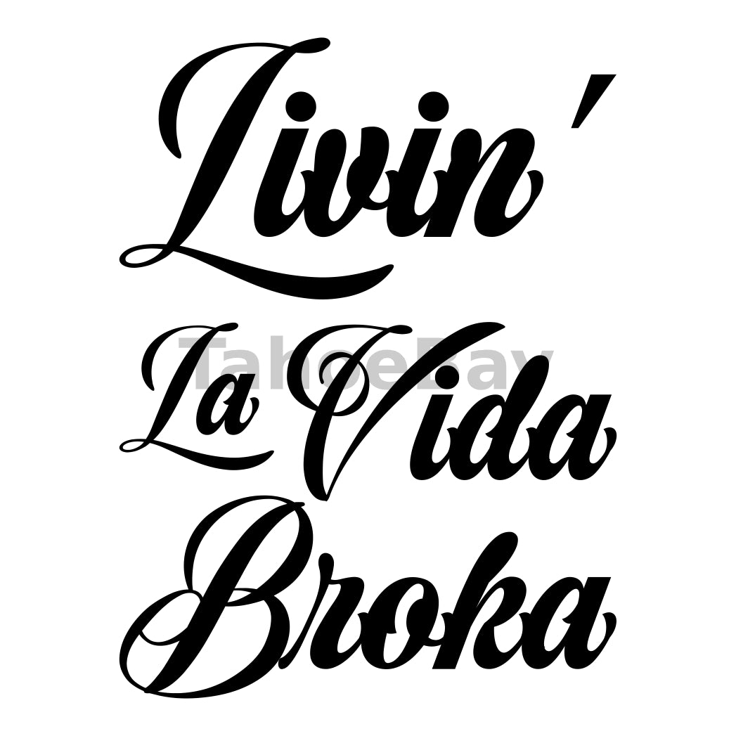 Livin La Vida Broka Can Cooler Graphic Design Files | SVG PNG