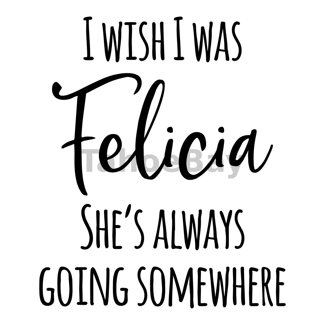 I Wish I Was Felicia Can Cooler Graphic Design Files | SVG PNG