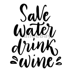 Save Water Drink Wine Can Cooler Graphic Design Files | SVG PNG