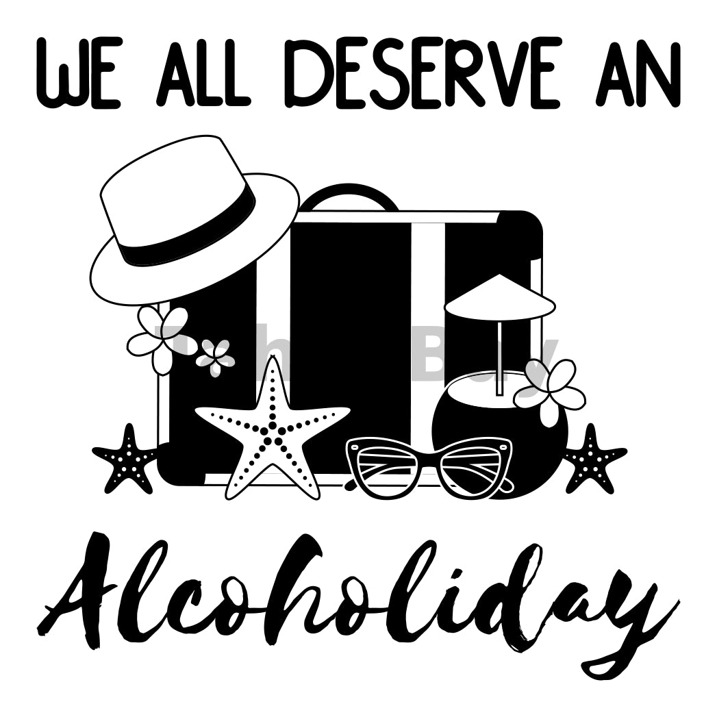 We All Deserve An Alcoholiday Can Cooler Graphic Design Files | SVG PNG