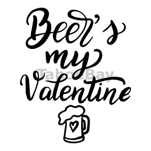 Beers My Valentine Can Cooler Graphic Design Files | SVG PNG