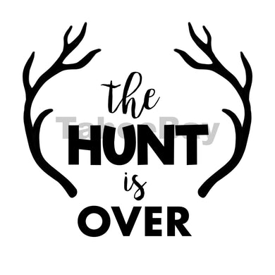 The Hunt Is Over Can Cooler Graphic Design Files | SVG PSD PNG