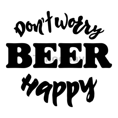 Don't Worry Beer Happy Can Cooler Graphic Design Files | SVG PNG
