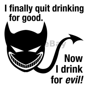 Now I Drink For Evil Can Cooler Graphic Design Files | SVG PNG