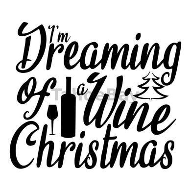 I'm Dreaming Of A Wine Christmas Can Cooler Graphic Design Files | SVG PNG