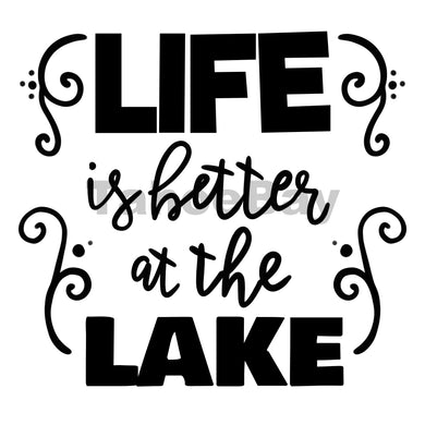 Life Is Better At The Lake Can Cooler Graphic Design Files | SVG PSD PNG