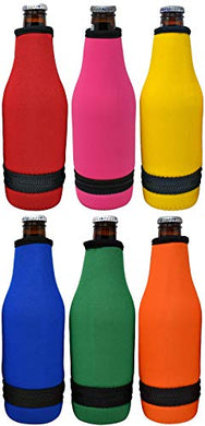 Blank Beer Bottle Thermal Sleeve - Easy-on Bottom Zipper Design