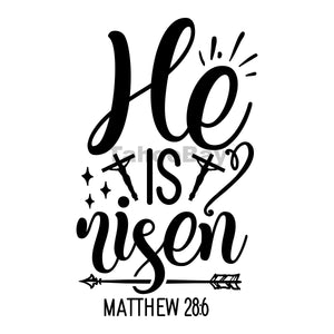 He Is Risen Can Cooler Graphic Design Files | SVG PNG