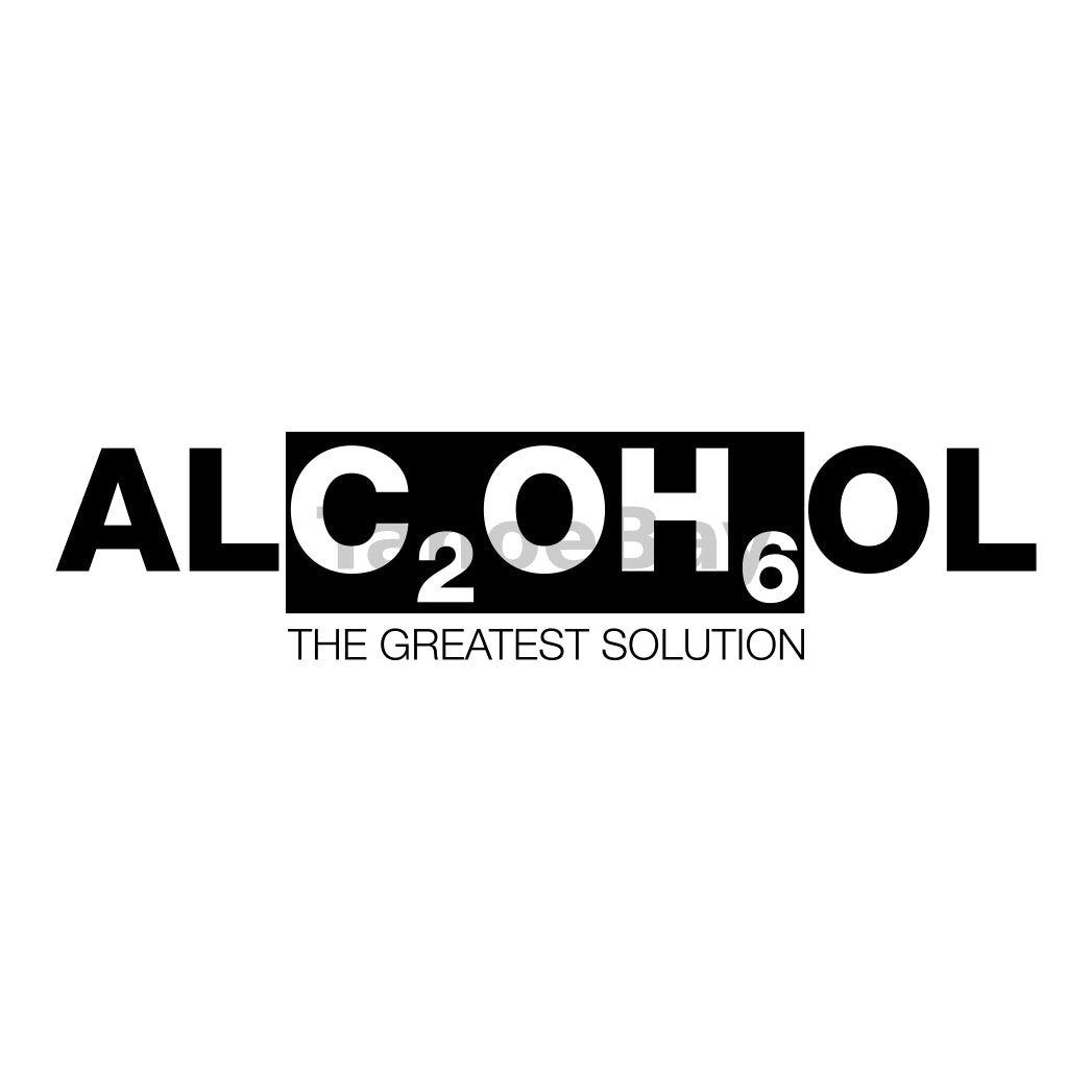 Alcohol The Greatest Solution Can Cooler Graphic Design Files | SVG PNG