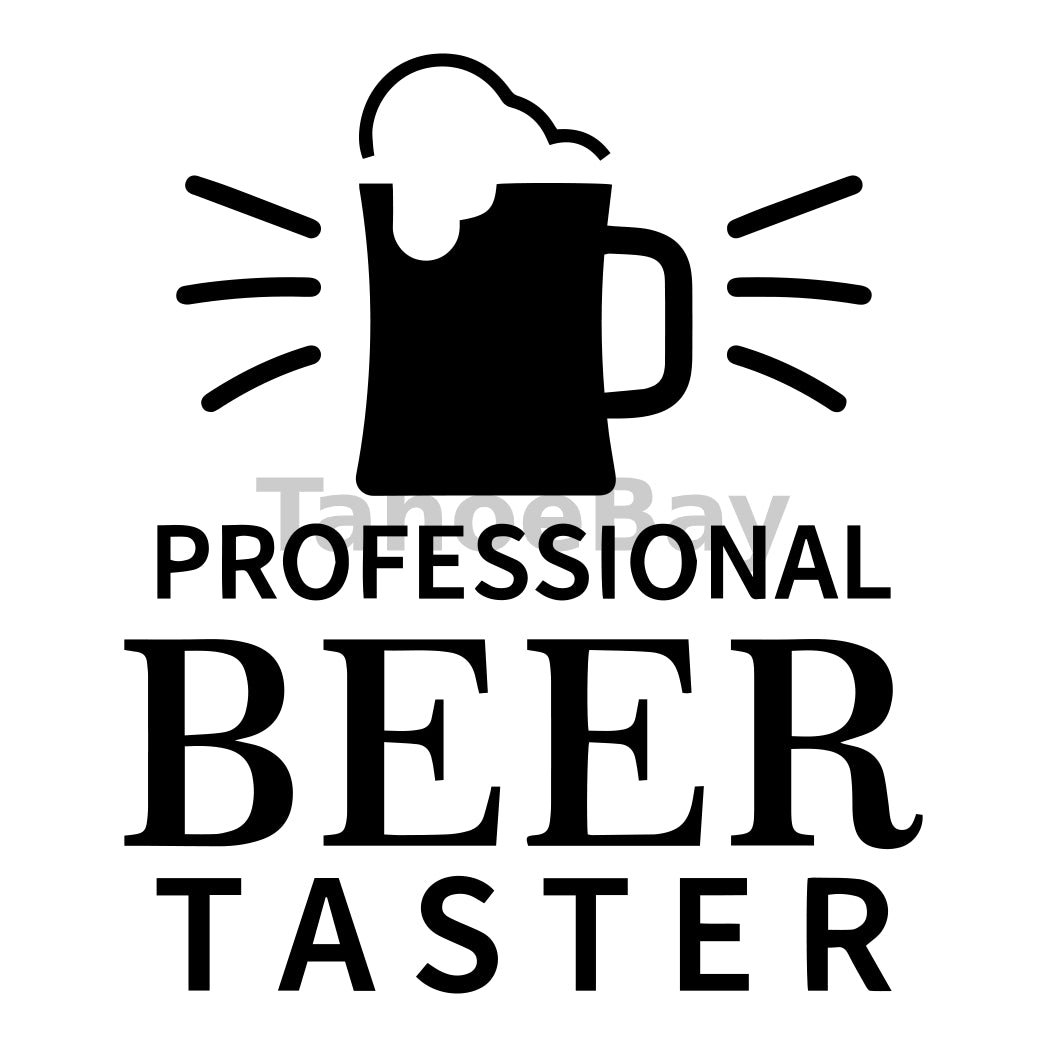 Professional Beer Taster Can Cooler Graphic Design Files | SVG PNG