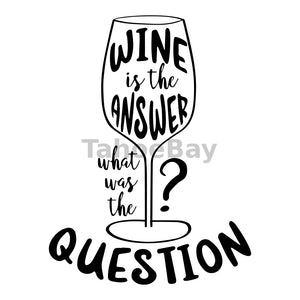 Wine Is The Answer Can Cooler Graphic Design Files | SVG PNG