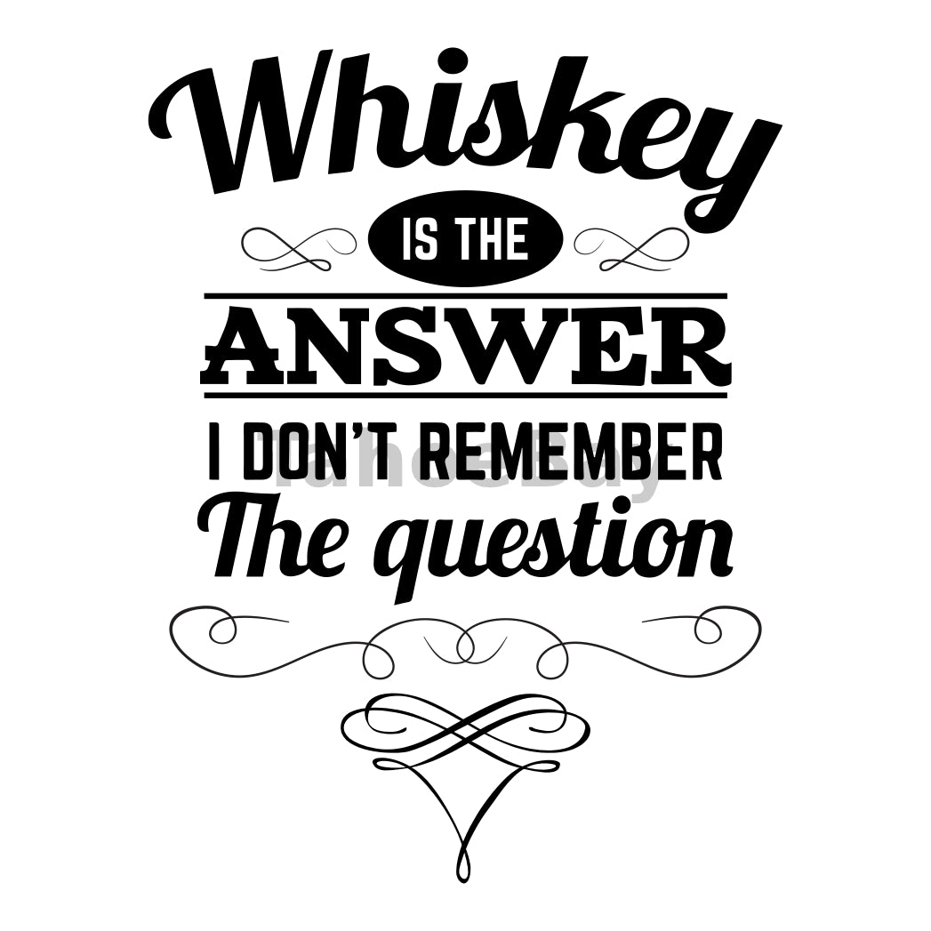 Whiskey Is The Answer Can Cooler Graphic Design Files | SVG PNG