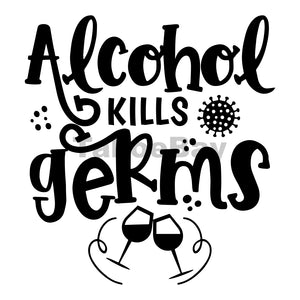 Alcohol Kills Germs Can Cooler Graphic Design Files | SVG PNG