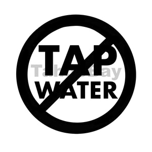 No Tap Water Can Cooler Graphic Design Files | SVG PSD PNG