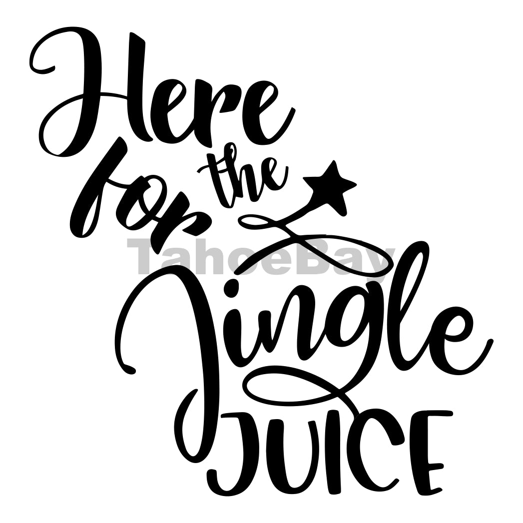 Here For The Jingle Juics Can Cooler Graphic Design Files | SVG PNG