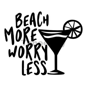 Beach More Worry Less Can Cooler Graphic Design Files | SVG PNG
