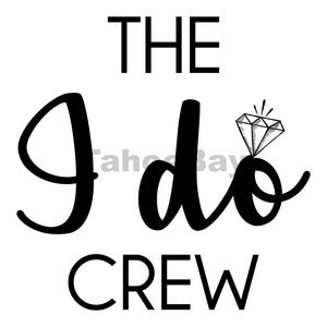 The I Do Crew Can Cooler Graphic Design Files | SVG PNG