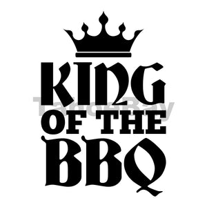 King Of The BBQ Can Cooler Graphic Design Files | SVG PNG