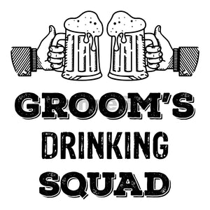 Groom's Drinking Squad Can Cooler Graphic Design Files | SVG PNG