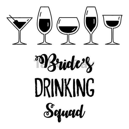 Bride's Drinking Squad Can Cooler Graphic Design Files | SVG PNG