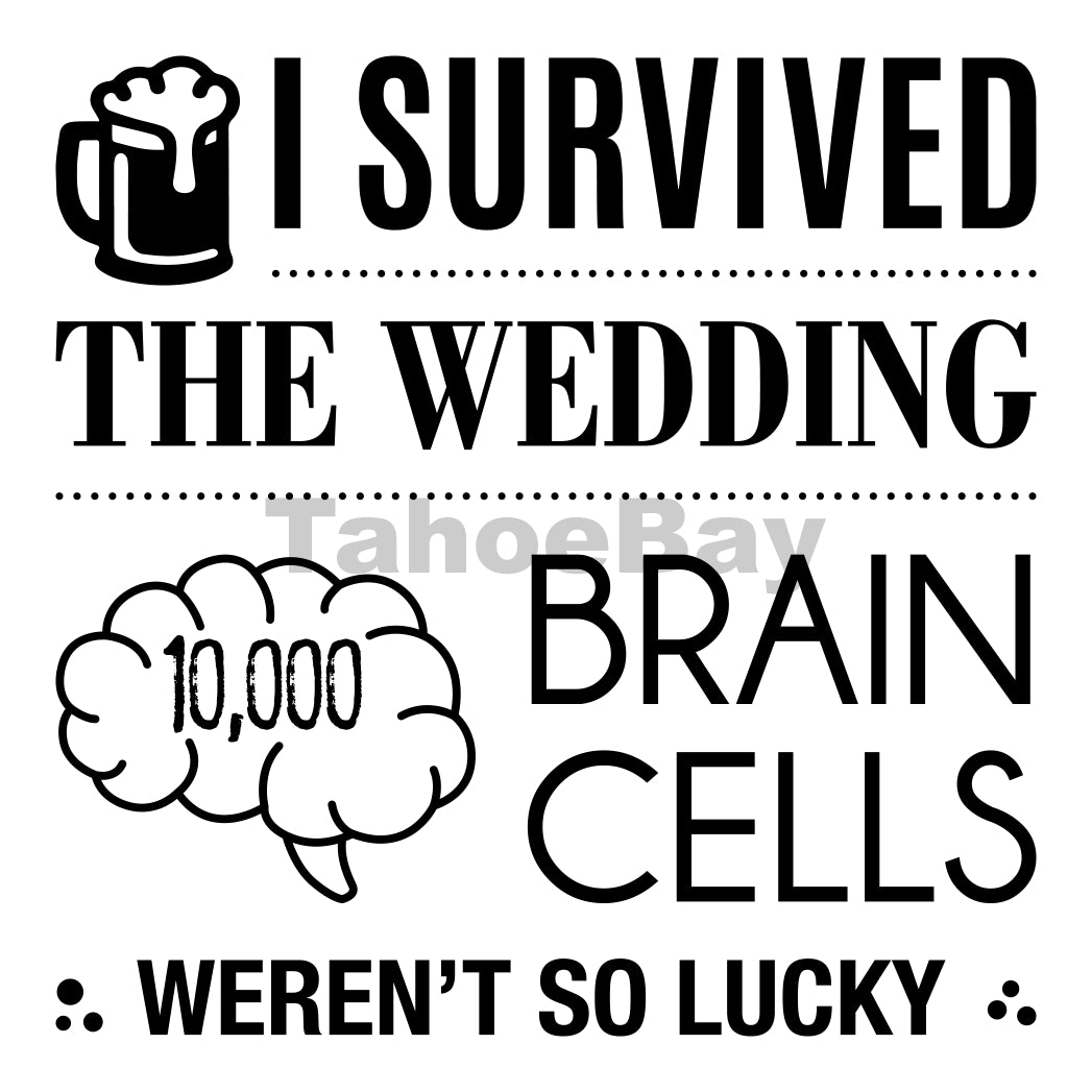 I Survived The Wedding Can Cooler Graphic Design Files | SVG PNG