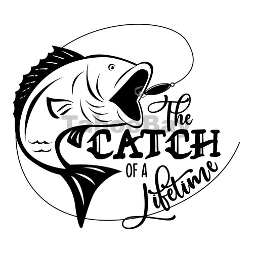 The Catch Of A Lifetime Can Cooler Graphic Design Files | SVG PNG