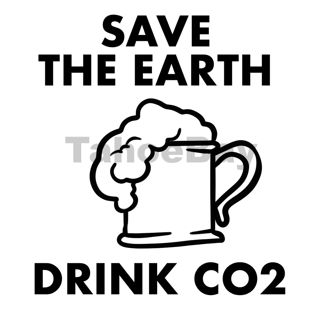 Save The Earth Drink CO2 Can Cooler Graphic Design Files | SVG PSD PNG
