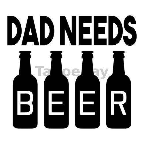Dad Needs Beer Can Cooler Graphic Design Files | SVG PNG