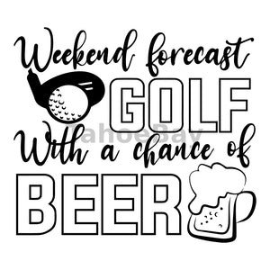 Golf With A Chance Of Beer Can Cooler Graphic Design Files | SVG PNG
