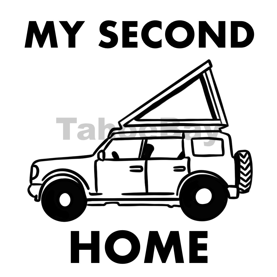 My Second Home Roof Top Tent Can Cooler Graphic Design Files | SVG PSD PNG