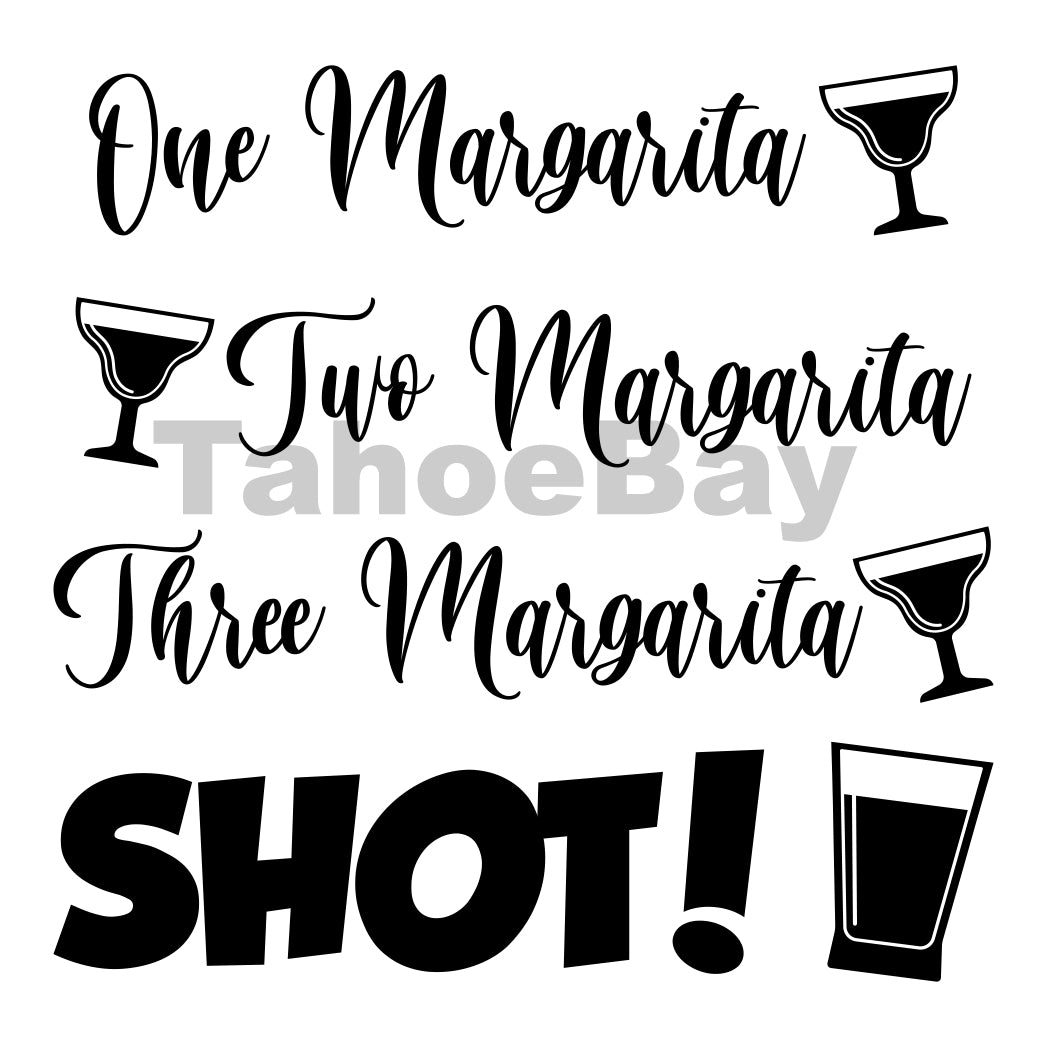 Three Margaritas Can Cooler Graphic Design Files | SVG PNG