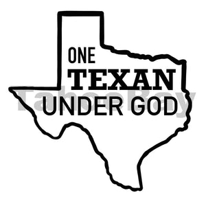 One Texan Under God Can Cooler Graphic Design Files | SVG PNG