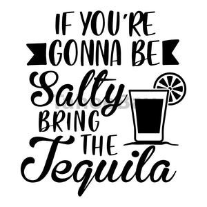 If You're Gonna Be Salty Bring The Tequila Can Cooler Graphic Design Files | SVG PNG