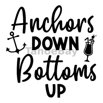 Anchors Down Bottoms Up Can Cooler Graphic Design Files | SVG PNG