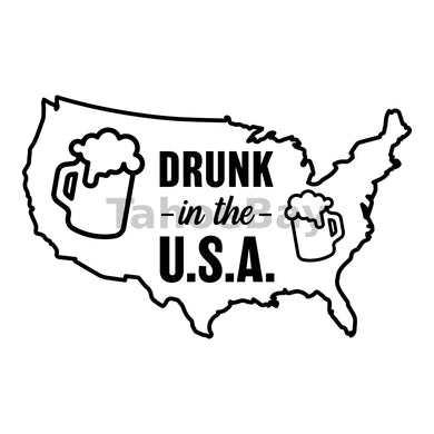 Drunk In The USA Can Cooler Graphic Design Files | SVG PNG
