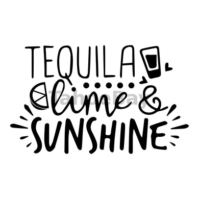 Tequila Lime And Sunshine Can Cooler Graphic Design Files | SVG PNG