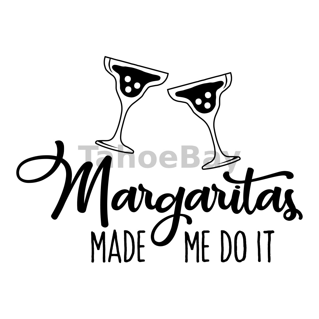 Margaritas Made Me Do It Can Cooler Graphic Design Files | SVG PNG
