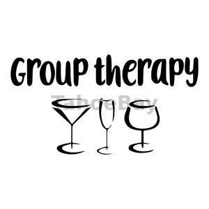 Group Therapy Can Cooler Graphic Design Files | SVG PNG