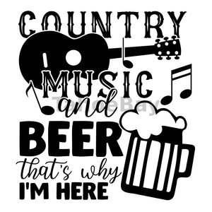 Country Music And Beer Can Cooler Graphic Design Files | SVG PNG
