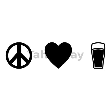 Peace Love Beer Can Cooler Graphic Design Files | SVG PNG