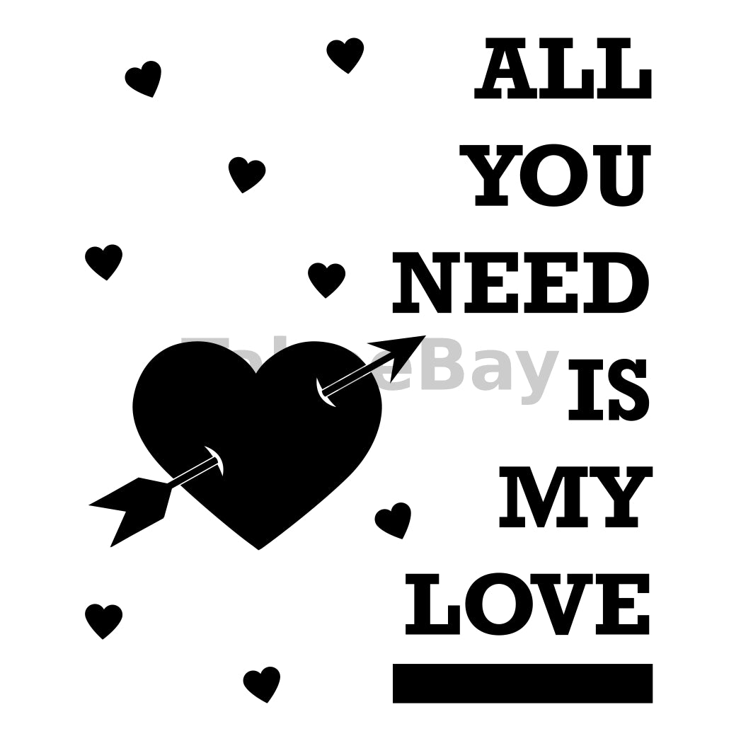 All You Need Is My Love Can Cooler Graphic Design Files | SVG PNG