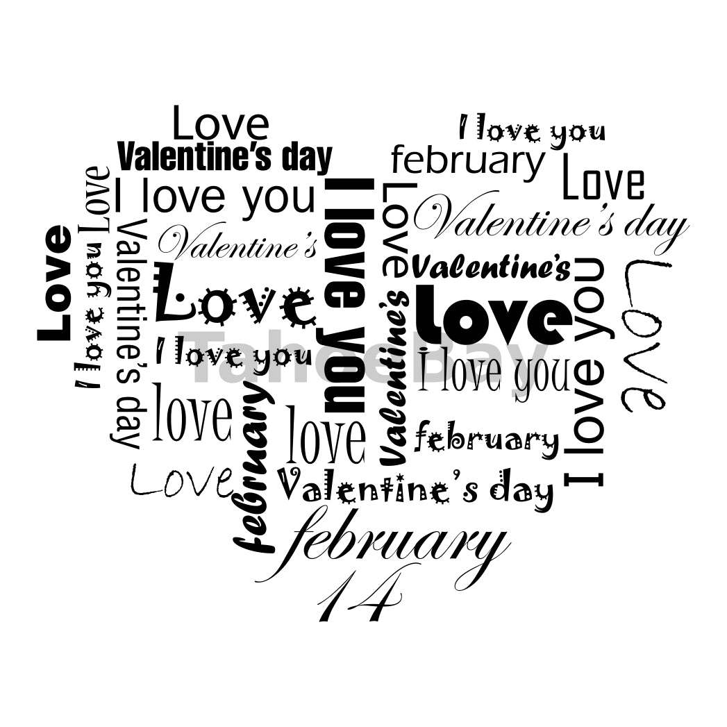 Love Word Cloud Can Cooler Graphic Design Files | SVG PNG
