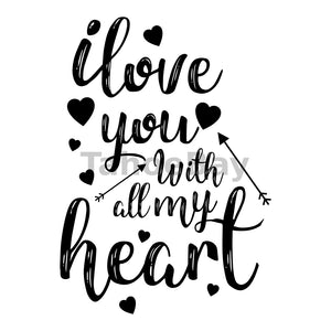 I Love You With All My Heart Can Cooler Graphic Design Files | SVG PNG