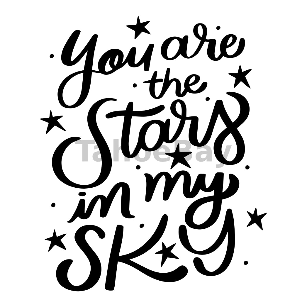 You Are The Stars In My Sky Can Cooler Graphic Design Files | SVG PNG