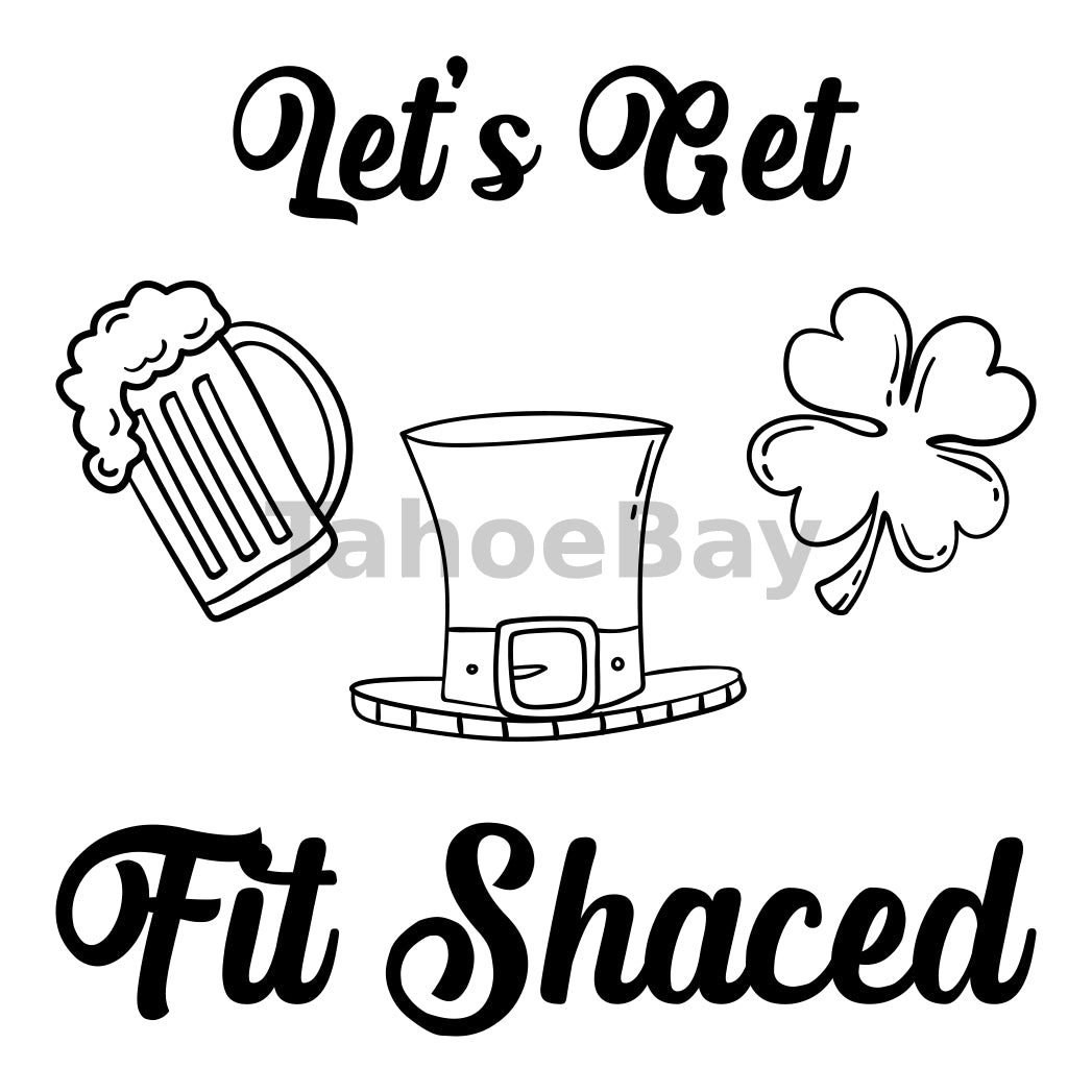 Let's Get Fit Shaced Can Cooler Graphic Design Files | SVG PNG