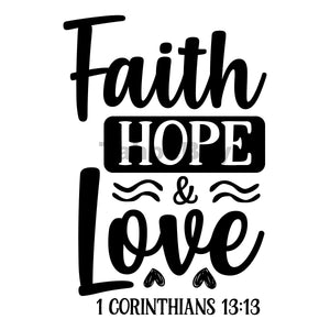 Faith Hope And Love Can Cooler Graphic Design Files | SVG PNG