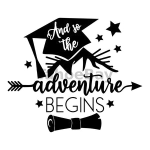 And So The Adventure Begins Can Cooler Graphic Design Files | SVG PNG