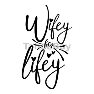 Wifey For Lifey Can Cooler Graphic Design Files | SVG PNG